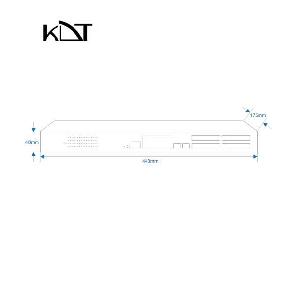 KC-2600H4SM - سوئیچ شبکه ۱۰ پورت KDT
