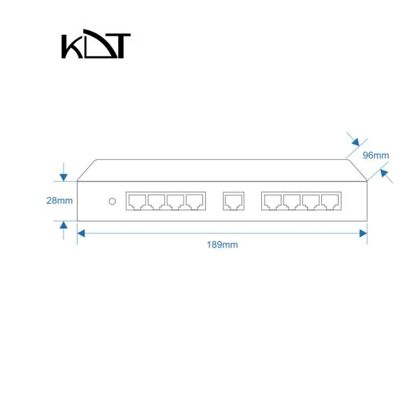KP-0801H2 - سوئیچ شبکه ۹ پورت POE برند KDT