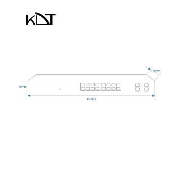 KS-2000H3 - سوئیچ شبکه ۲۰ پورت KDT